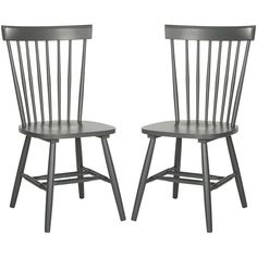 Safavieh Country Classic Dining Parker Charcoal Grey Side Chairs ($200) ❤ liked on Polyvore featuring home, furniture, chairs, dining chairs, grey, farmhouse kitchen chairs, safavieh chairs, painted kitchen chairs, country dining chairs and farmhouse dining chairs