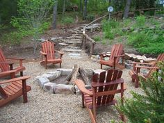 Fire pit I do not see why on earth we can not just build a basic pit like this! We have tons of rock!