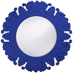 Howard Elliott Anita Royal Blue Round Mirror 51177RB