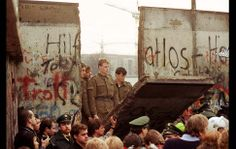 The Fall of the Berlin Wall, November 11, 1989 (photo via the Los Angeles Times)