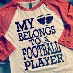 Sale Sale Sale VIntage My heart Belongs to a football player