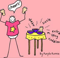Vindaloo time! By Purple Ronnie