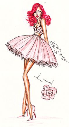 Hayden Williams Fashion Illustrations: Rihanna 'LOUD'