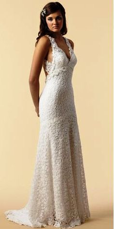 I've already bought my wedding dress, but I can still perv! Brand New look beautiful white wedding crochet by pvictoria, $349.00