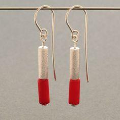 Ohrhänger - Korallohrhänger, silber - ein Designerstück von schmucker_schmuck bei DaWanda