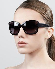 Thick-Rim Cat-Eye Sunglasses