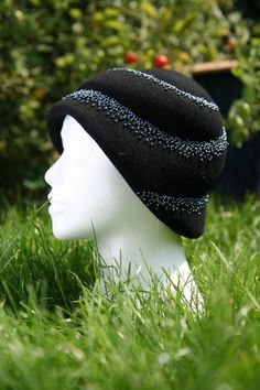 Couture hand blocked and beaded felt hat - shipps from UK  £159.00  http://www.etsy.com/listing/29076344/couture-hand-blocked-and-beaded-felt-hat?ref=usr_faveitems