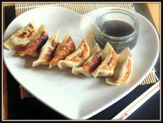 Turkey 'Gyoza'. Proud to have made these gorgeous Japanese dumplings