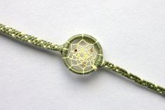 Yellow & Jade Green Dreamcatcher Bracelet | Dream Catcher
