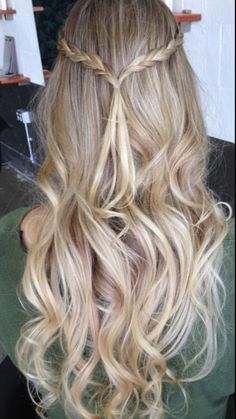 Blonde boho curls