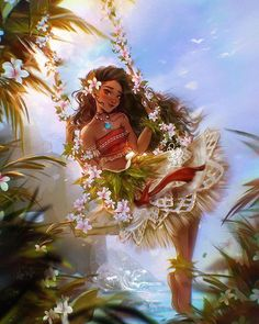 """ROY THE ART on Instagram: """"🌺MOANA🌺  _DISNEY PRINCESS FANART_  """"Sometimes the world seems against you The journey may leave a scar But scars can heal and reveal just…"""""""