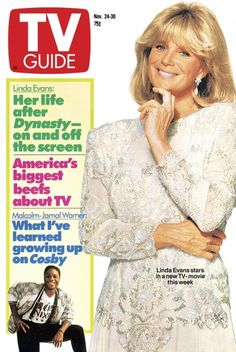 Her life after Dynasty-on and off the screen Magazine Ads, Magazine Covers, Linda Evans, Television Tv, Tv Soap, Little Bit, Episode Online, Tv Land, Tv Episodes
