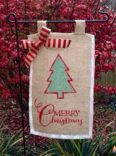 Hey, I found this really awesome Etsy listing at https://www.etsy.com/listing/171583176/burlap-christmas-garden-flag