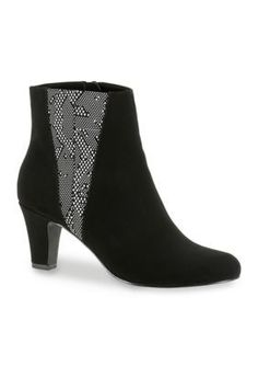 Easy Street Black Combo Endear Dress Bootie