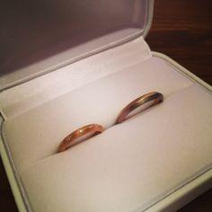 OLJEIさんにて作ってもらった結婚指輪。