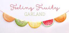 Free 'Feeling Fruity' Garland Printable ~ Tinyme