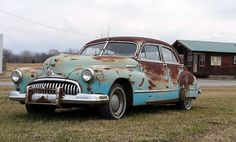 rusty old blue car Car Images, Car Photos, Car Pictures, Buick Cars, Cheap Car Insurance, Rusty Cars, Abandoned Cars, Barn Finds, Car Wallpapers