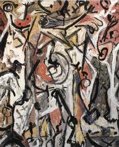 Jackson Pollock - Grey Center - 1946 - Oil paint on canvas - X Pollock Artist, Pollock Paintings, Cool Paintings, Abstract Drawings, Abstract Art, Art Drawings, Jackson Pollock Art, A Level Art Sketchbook, Art Moderne