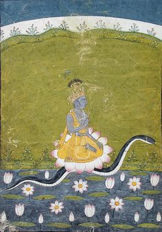 Krsna. Kalidipak Ragaputra of Kedar by the san diego museum of art collection, via Flickr