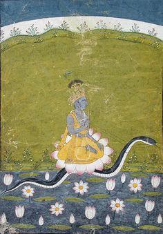 Krsna. Kalidipak Ragaputra of Kedar by the san diego museum of art collection