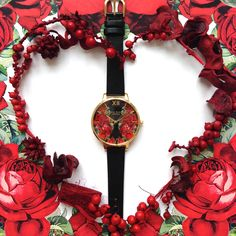 How festive is our new English Rose style? English Roses, Olivia Burton, Festive, Christmas Gifts, Jewels, Gift Ideas, Jewellery, Watch, Bags
