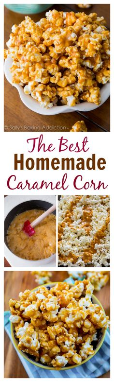 This will be your new favorite snack! Homemade Caramel Corn is so easy to make. You'll grab sweet, crunchy handful after handful!