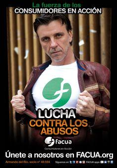 Armando del Río, socio de FACUA nº 40.594, llama a los consumidores a la lucha contra los abusos