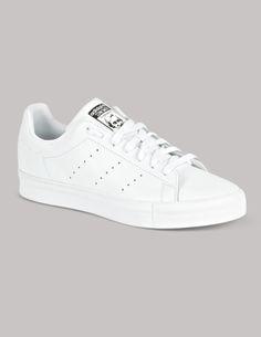 Adidas Originals White Stan Smith Vulc Trainers | Stone Menswear