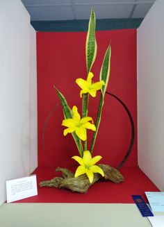 This design won a Blue Ribbon in a Standard Flower Show.