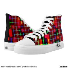 Retro Video Game Style Printed Shoes