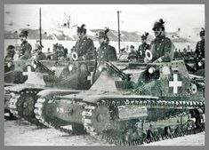 The dwindiling German and Hungarian military pressed into service all available units, including these Hungarian gendarmes ordered to fight in these small and outdated Ansaldo tankettes. Defence Force, Ww2 Tanks, Military Equipment, Axis Powers, Historical Pictures, Budapest, Military Vehicles, Wwii, Hungary