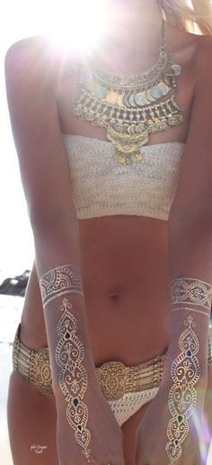Metallic Tattos, lovely on summer evenings.