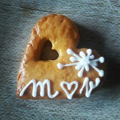 Perníkové srdíčko na koláčky. Gingerbread wedding heart.
