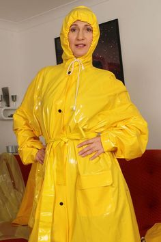 Vinyl Raincoat, Plastic Raincoat, Pvc Raincoat, Yellow Raincoat, Rain Bonnet, Vinyl Clothing, Rain Cape, Rubber Raincoats, Hooded Cloak