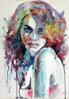 Girl by kovacsannabrigitta.deviantart.com on @deviantART WATERCOLOR