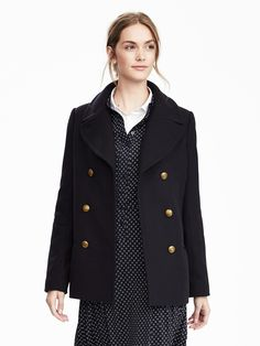 Melton Wool Classic Peacoat | Banana Republic - $268