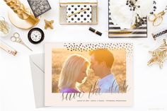 Printable Save the Date Engagement Announcement - Gold Animal Print, Engagement Photo, Couple, Wedding, - 5x7 Save the Date Announcement by blushprintables on Etsy https://www.etsy.com/listing/239910476/printable-save-the-date-engagement