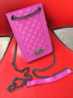 Chanel quilted purses case universal Rose Free Shipping - Deluxeiphonecase.com