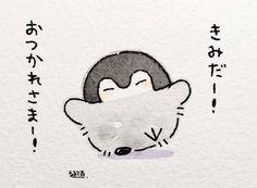 Pinguin Drawing, Chibi Cat, Cute Penguins, Cute Characters, Character Drawing, Cute Drawings, Aesthetic Anime, Manga Anime, Hello Kitty