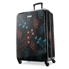 """American Tourister Star Wars 28"""" Hardside Spinner Luggage Hard Sided Luggage, Galaxy Fabric, Lightweight Luggage, Star Wars Vehicles, Checked Luggage, Spinner Suitcase, Star Wars Characters, Galaxies, Battle"""