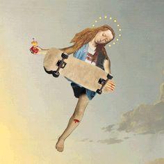 Le Tumblr SCORPION DAGGER crée des petites animations amusantes en gif en utilisant des morceaux de peintures italiennes du début de la renaissance.