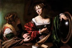 Caravaggio, The Conversation of Mary Magdalene, c. 1598.