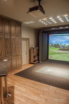 Pro Golf Simulation Room | CMI Construction :: Springdale, AR CMI Construction :: Springdale, AR