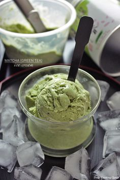 Matcha (Green Tea) Ice Cream - Um, so it's really a hack and not a recipe, but it's a good hack!  Make with coconut milk ice cream!!