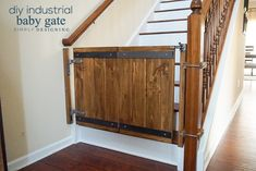 How To Make A Custom DIY Baby Gate With An Industrial Style