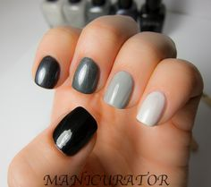 Love the shades of these ombré nails!