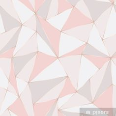 Geometric seamless pattern. Abstract Polygonal background. Triangle vector Pastel backdrop. Sticker • Pixers® • We live to change