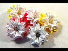 Зимние цветочки-снежинки/Новый лепесток/Snowflake/Зефирки из ленты 2.5см/Tutorial/D.I.Y - YouTube