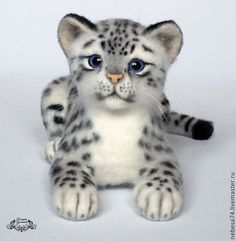Baby Animals Super Cute, Cute Stuffed Animals, Cute Little Animals, Needle Felting Kits, Needle Felted Animals, Felt Animals, Exotic Cats, Baby Unicorn, Felt Cat