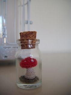 Ravelry: Mushroom in a bottle pattern by A la Sascha
